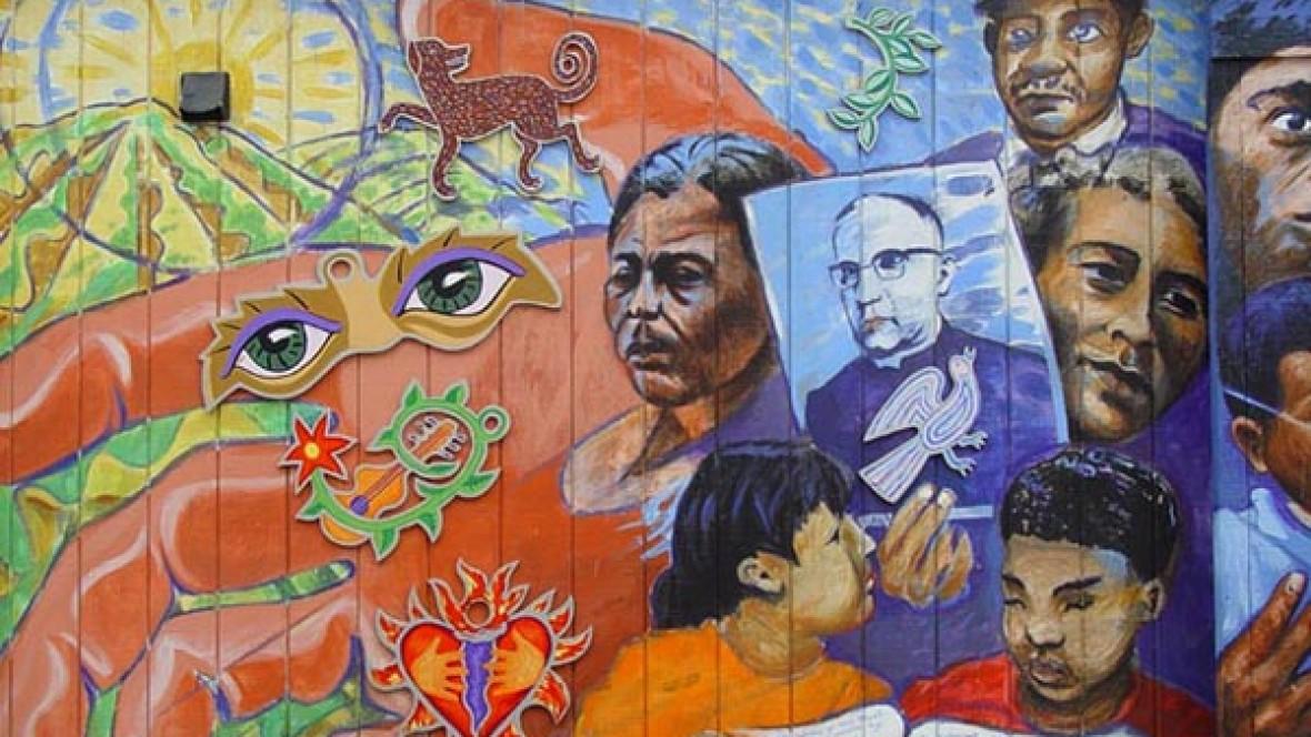 (Tributo al Arzobispo Óscar Romero por Jamie Morgan. Foto: Franco Folini / Flickr)