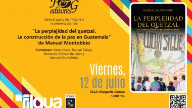 Presentación La perplejidad del quetzal en el Centro Cultural de España y la Feria del Libro en Guatemala